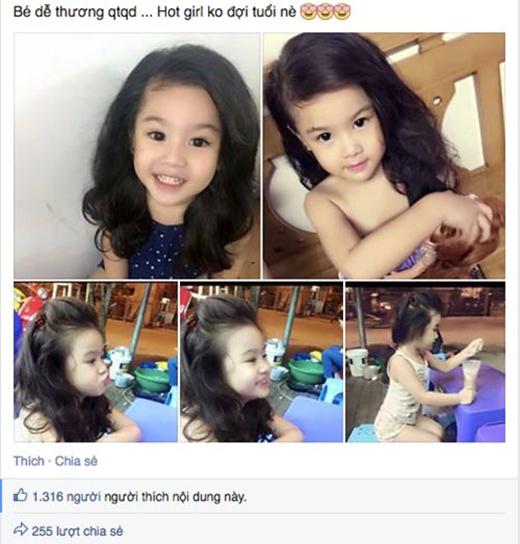 Thông tin về cô bé có mái tóc xoăn, làn da trắng như trứng gà bóc và đôi mắt to tròn từng khiến nhiều người thích thú săn tìm.