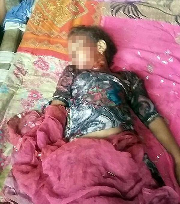 Thi thể bé gái được phát hiện ở sân sau của gia đình.