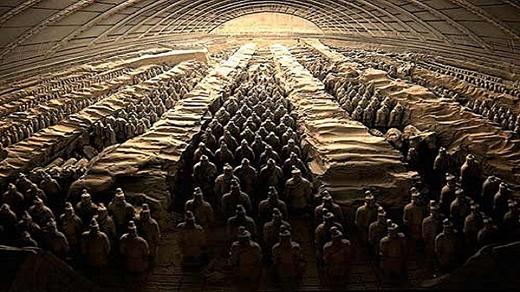 Tượng đất nung được chôn cùng vị hoàng đế. (Ảnh: Internet)