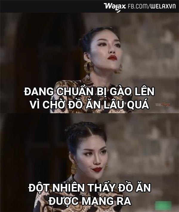 Những ảnh chế của Lan Khuê tại The Face Vietnam 2016.