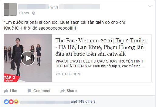 """Lan Khuê lại có thêm hình ảnh """"bất hủ"""" tại The Face Vietnam 2016"""