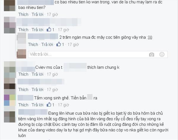 Một bạn trẻ còn nhắc lại sự việc chủ tiệm vàng Sài Gòn từng bị chém đứt tay vì khoe ảnh giàu có. (Ảnh: Chụp màn hình).
