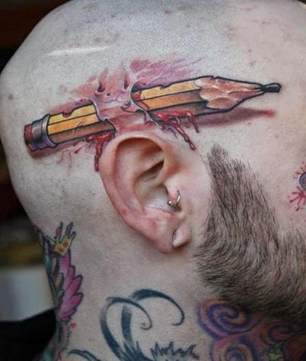 Để không quên bút chì nữa, tốt nhất là hãy cắm thẳng nó vào đầu.