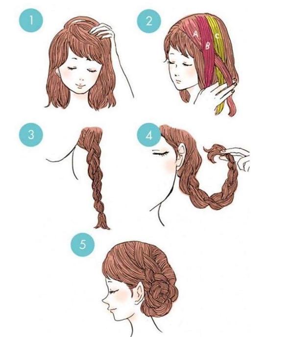 Tết tóc bím chưa bao giờ hết hot, thậm chí người ta có thể biến hóa ra vô vàng kiểu chỉ với 1 bím tóc đơn giản. Nhìn mà xem, kiểu tóc này bạn sẽ như một cô gái bước ra từ thế giới cổ tích.