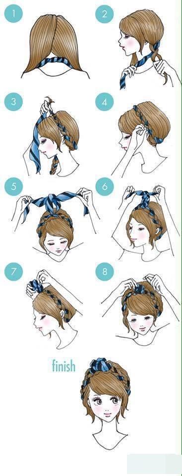 Sao bạn không thử làm điệu với dây ruy băng và tóc tết, đảm bảo mọi người sẽ phải ồ lên kinh ngạc bởi kiểu tóc đáng yêu này đấy.