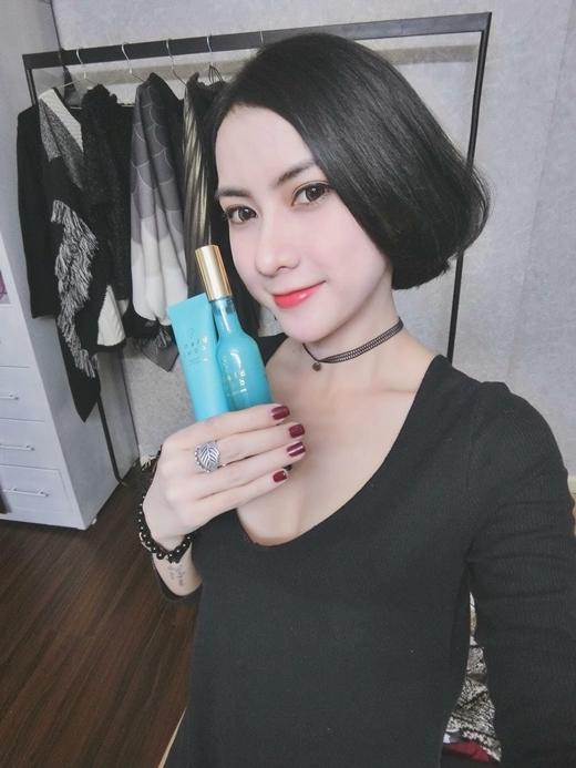 Ca sĩ Thái Tuyết Trâm cũng thường xuyên sử dụng sản phẩm để làn da khỏe đẹp.
