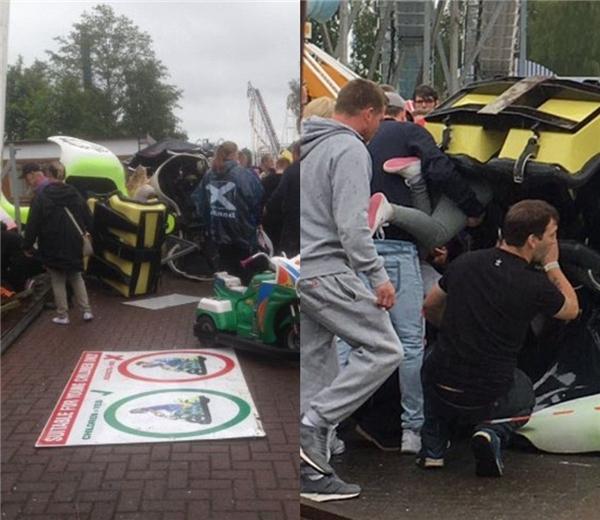 Ngay lập tức, 6 đội cấp cứu và 1 nhóm cứu hộ đặc biệt đã có mặt tại hiện trường.(Ảnh: Daily Mail)