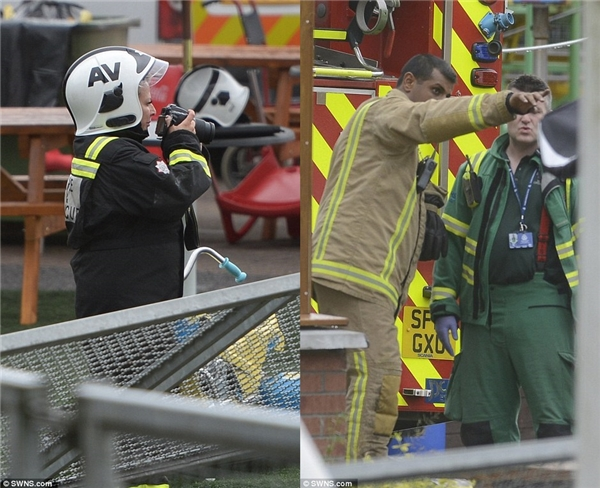 Lực lượng cứu hộ có mặt ngay tại hiện trường, nhanh chóng đưa các nạn nhân đến bệnh viện.(Ảnh: Daily Mail)