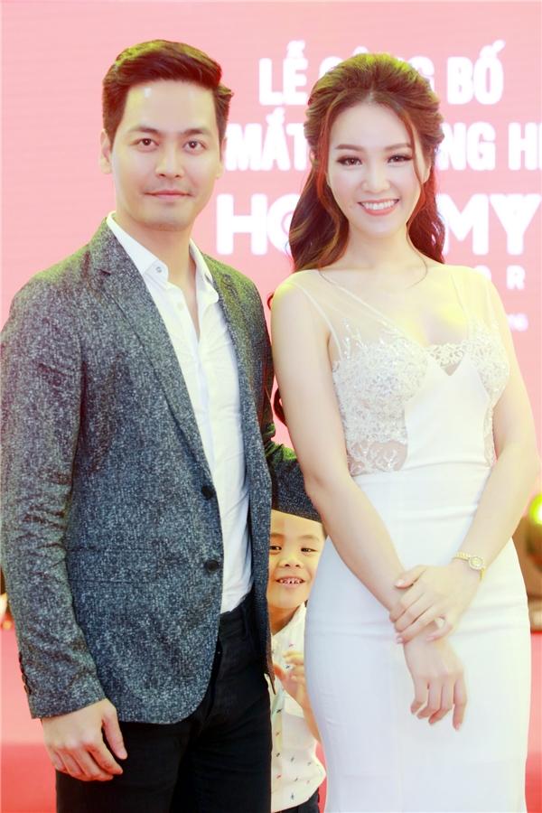 Tại đêm tiệc này, Thụy Vân còn có dịp hội ngộ với MC Phan Anh.
