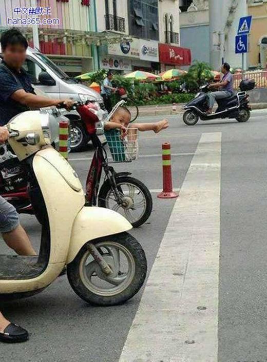 Có con nhỏ thật là thích, để vừa lọt giỏ xe đạp điện nè.