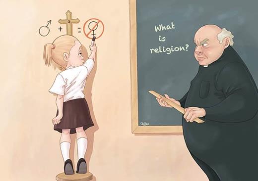 """""""Tôn giáo là gì?"""" Là khi những người truyền giảng giáo lý là nam giới và qua lời họ phụ nữ không hề có chỗ đứng?!"""