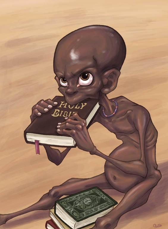 Nạn đói đang hoành hành ở nhiều khu vực trên thế giới, nhất là châu Phi, nhưng tôn giáo thì giúp được gì ngoài trở thành... miếng ăn bất đắc dĩ?!