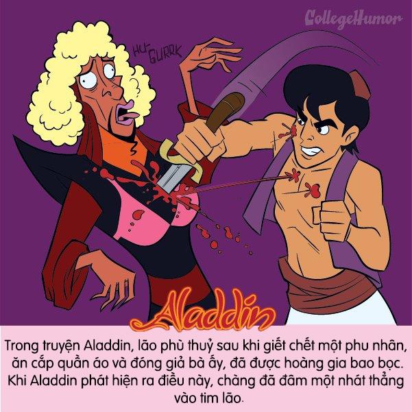 """Aladdin không """"dư tình yêu"""" để bao bọc một kẻ độc ác như lão phù thuỷ."""
