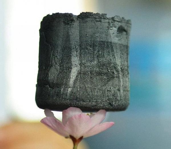 Có vẻ khó tin vào mắt mình, nhưng đây làgraphene aerogel loại vật liệu nhẹ nhất hành tinh, ngay cả một cánh hoa cũng không bị biến dạng khi đặt nó lên trên.(Ảnh Internet)
