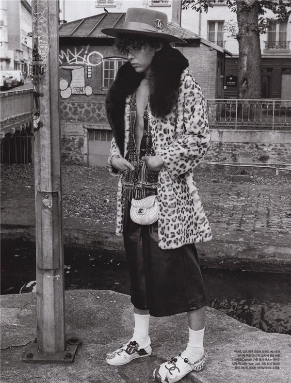 G-Dragon trong trang phục của nhãn hàngChannel,(Ảnh: Internet)