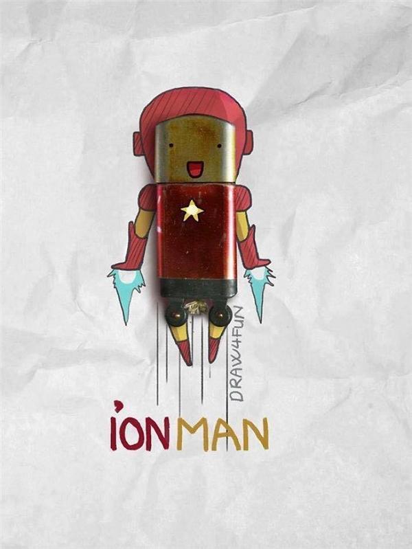 """Nhìn xem Iron Man """"bật lửa"""" mặt """"hớn"""" chưa kìa.(Ảnh: Nguyễn Quang Huy)"""