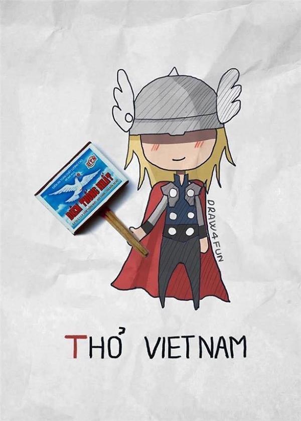 """Búa của Thor nay đã được """"nâng cấp"""" và vẫn bất khả chiến bại như xưa.(Ảnh: Nguyễn Quang Huy)"""