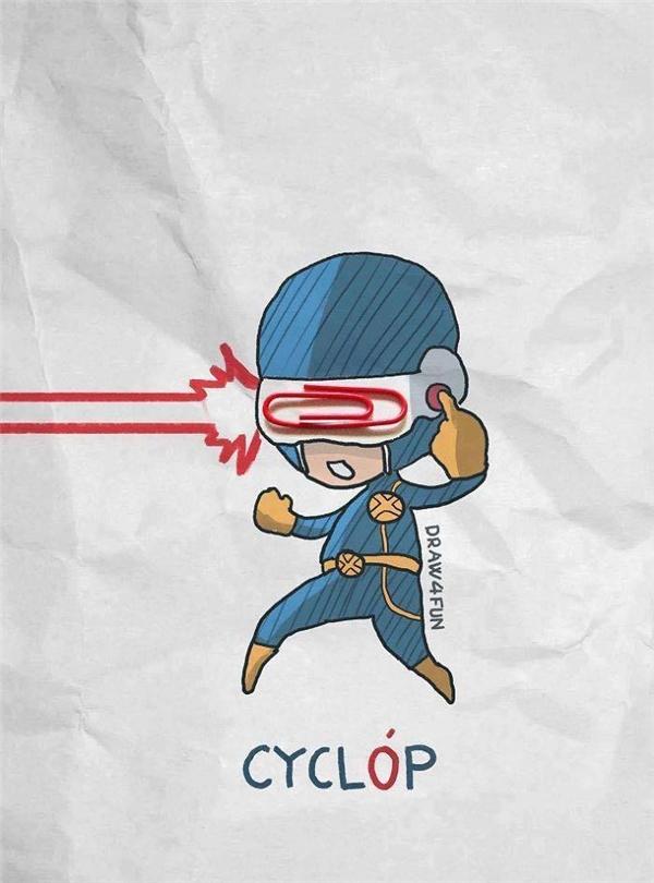 Và đây là sức mạnh năng lượng... kim kẹp giấy của Cyclops ta đây!(Ảnh: Nguyễn Quang Huy)