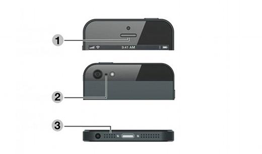 iPhone gồm có tổng cộng 3 micrô. Lỗ đen phía sau thực chất là một trong số đó. (Ảnh: Internet)