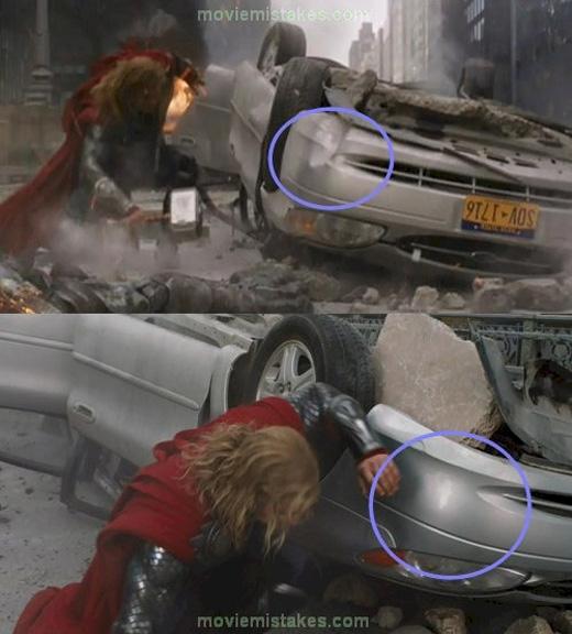 Thor biết sửa cả vết móp trên xe.
