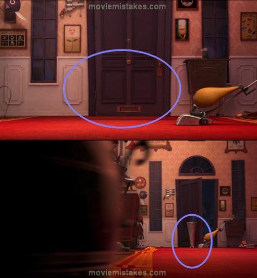 Trong Despicable Me 2, cái để dù tự động xuất hiện trước cửa.