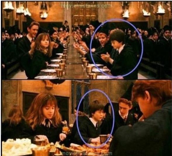 Trong Harry Potter and the Philosopher's Stone, Harry Potter đã đổi chỗ ngồi chỉ sau một cái nháy mắt, chứng tỏ cậu nhóc biết phép độn thổ dù mới nhập học.