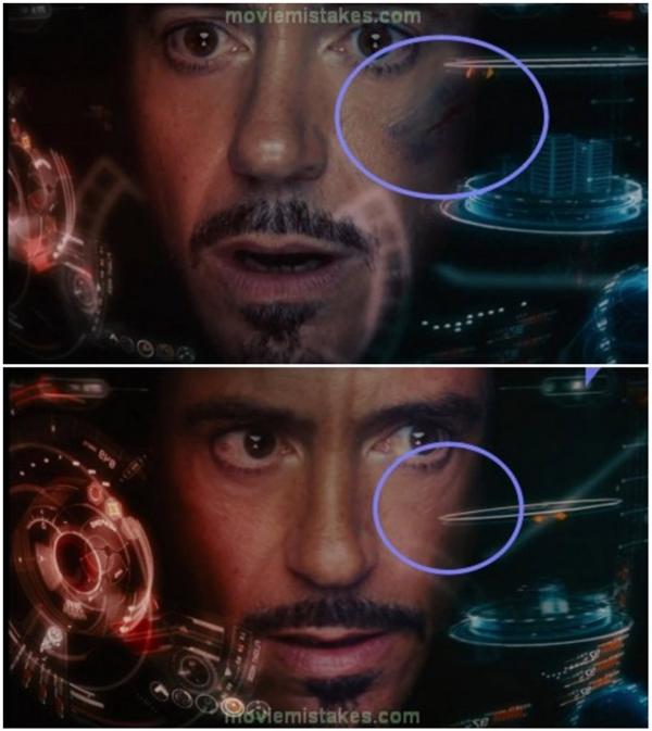 Bộ giáp của Iron Man trong The Avengers chắc chắn biết chữa lành vết thương.
