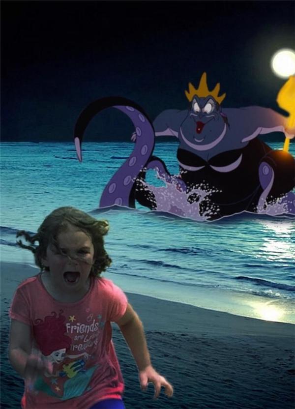 Và nếu như gặp phải mụ phù thủy bạch tuộc thì cũng phải chạy thật nhanh thôi.(Ảnh: Internet)