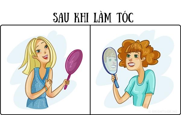 Cắt xong đa phần những bạn gái thấy tóc cũ đẹp hơn.(Ảnh: Brightside)