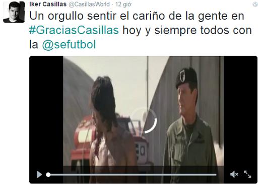 Video đăng tải trên Twitter của Casillas.