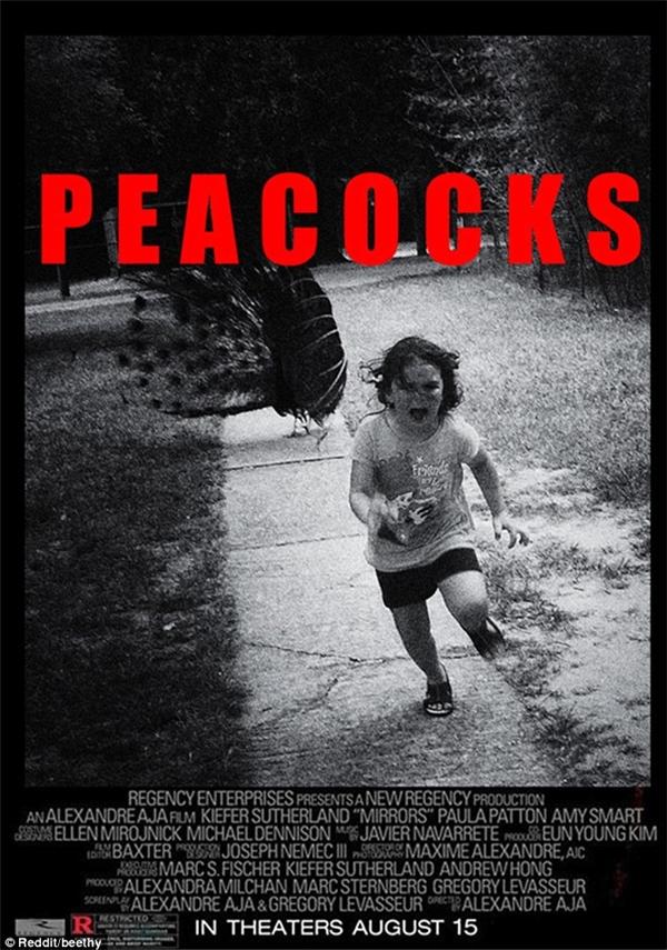 """Thậm chí có người còn tung ra cả poster của bộ phim kinh dị ăn khách tiếp theo: """"Những con công""""."""