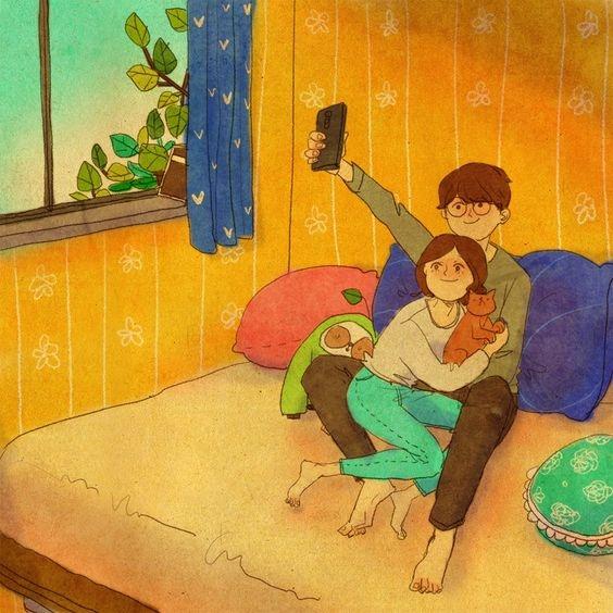 Rồi không biết từ khi nào, chúng ta lại thân mậtlưu lại những khoảnh khắc tuyệt vời bên nhau vào mỗi buổi sớm.