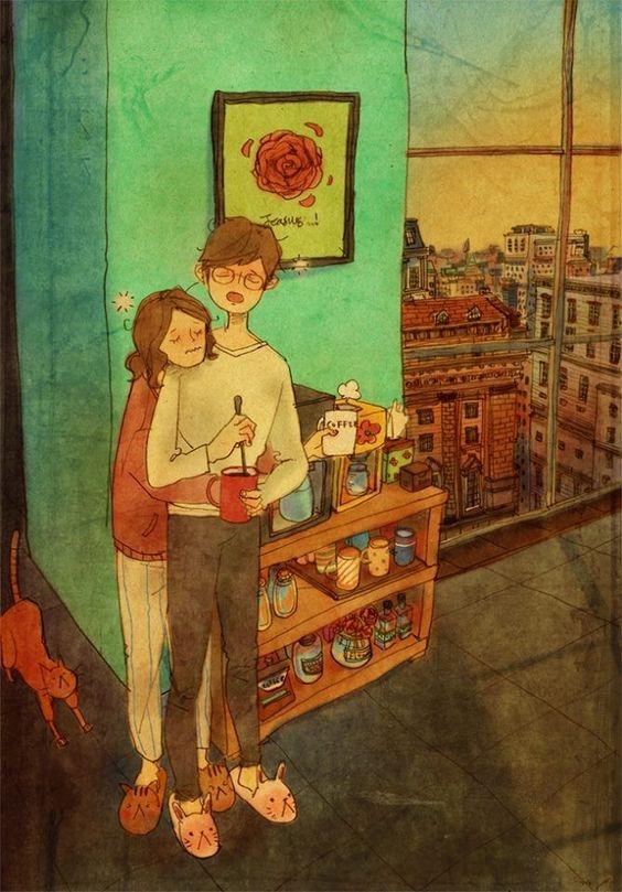Hai đứa sẽ thưởng thức những ngày của tuổi trẻ bằng ly cà phê bốc khói trong tiết trời rét căm căm.