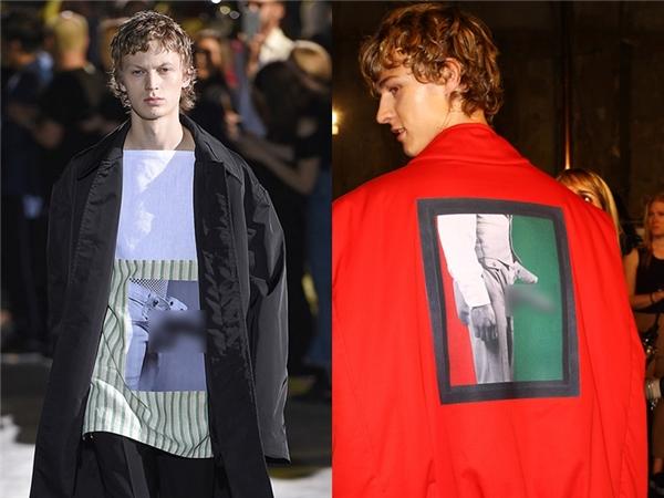 Không quá cầu kì, dị biệt nhưng bộ sưu tập mới của nhà mốt Raf Simons vẫn để lại ấn tượng sâu sắc nhất trong lòng khán giả. Trong đó, 2 thiết kế khiến người xem choáng váng khi in hình của quý lên trên áo phông và áo khoác ngoài.
