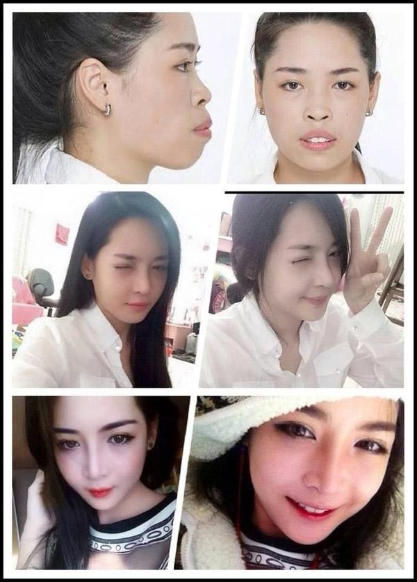 Quá trình biến hóa của cô gái.