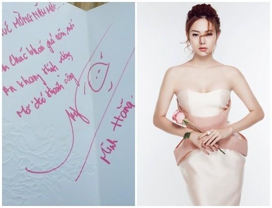 Chữ kí nhỏ nhắn của Minh Hằng luôn đính kèm một biểu tượng hài hước do cô nghĩ rarất được lòng người hâm mộ. - Tin sao Viet - Tin tuc sao Viet - Scandal sao Viet - Tin tuc cua Sao - Tin cua Sao