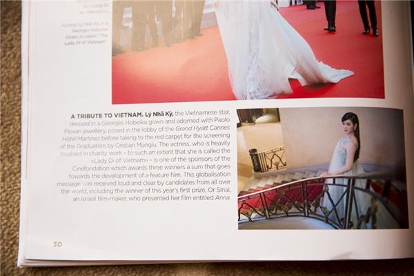Lý Nhã Kỳ được dành hẳn 1 trang riêng trên tạp chí danh giá.