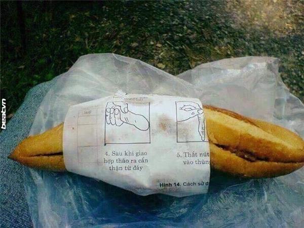 """Dù ăn bánh mì nhưng vẫn được """"khuyến mại"""" cách sử dụng """"ba con sói"""" nhé.(Ảnh: Internet)"""