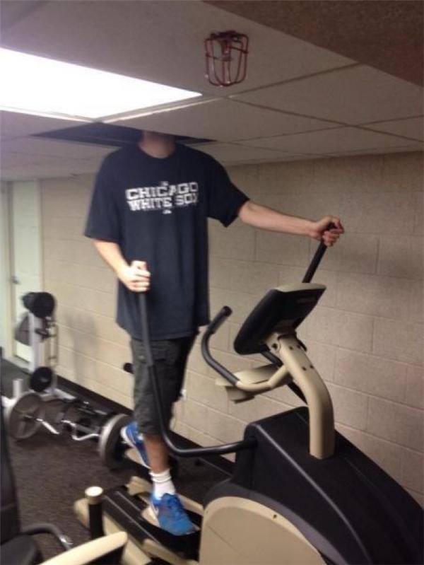 Anh ít khi tập gym...(Ảnh: Internet)
