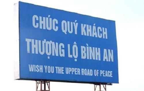 """Không biết các du khách nước ngoài có """"cạn lời"""" sau khi nhìn thấy tấm biển này không nhỉ?(Ảnh: Internet)"""
