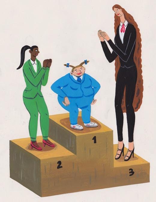 Phải chăng đây là thứ duy nhất mà phụ nữ muốn cạnh tranh trong cuộc sống: chiều cao, cân nặng, ngoại hình?