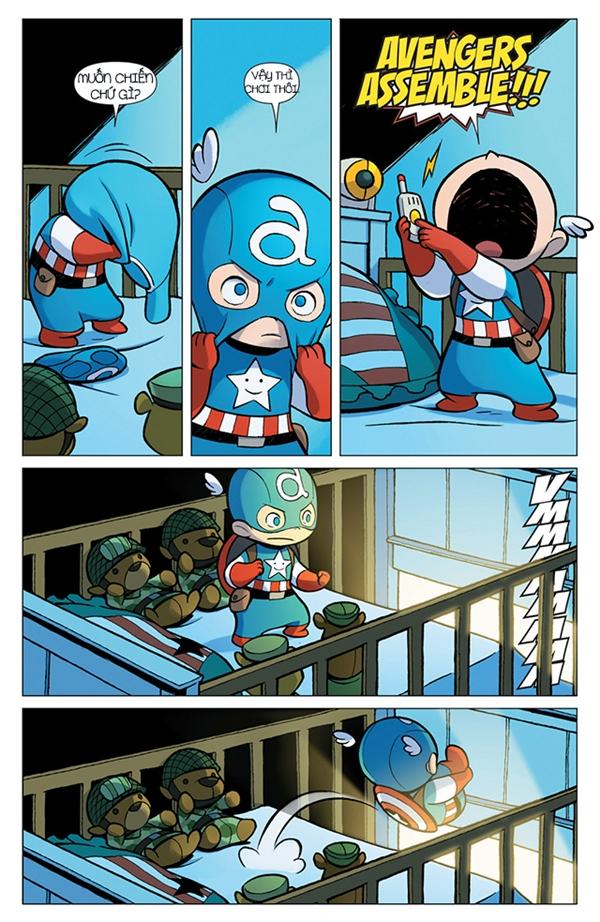 """Nhận ra bọn họ muốn tuyên chiến, Steve lập tức thay đồ Captain America và... """"Biệt đội siêu anh hùng, tập hợp!!!"""""""