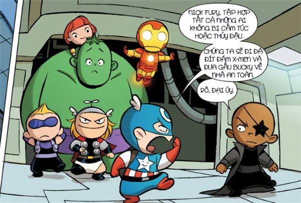 Nick Fury cũng góp một tay tập hợp những siêu anh hùng còn lại để hỗ trợ Cap.