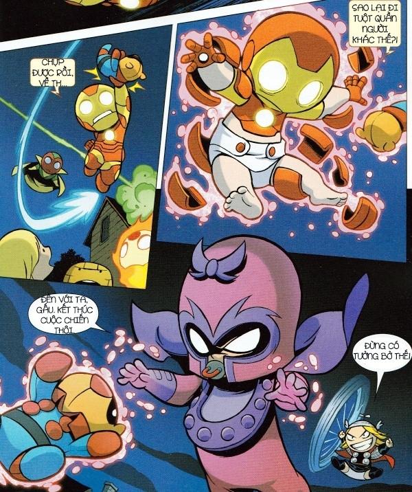 """Ngay khi Người Sắt ngỡ đã cứu được Gấu Bucky về thì Magneto lại """"ra tay hiểm ác"""", nhưng may mắn đã có Thor tương trợ kịp thời."""