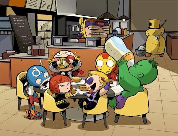 Trước khi mọi người về ngủ ngon thì phải tranh thủ đi ăn đêm đã. Tuy nhiên vì quá mệt mỏi nên Cap đã... lè lưỡi ngủ ngon lành ngay bàn ăn. (Ảnh: Internet)
