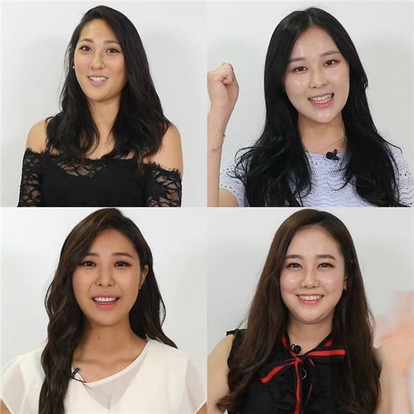 Lee Sharon (góc trái phía trên) với gương mặt to thiếu cân đối. Còn Kim Do-yeon (góc phải phía dưới) lại có phần cằm tích mỡ quá nhiều do thừa cân.