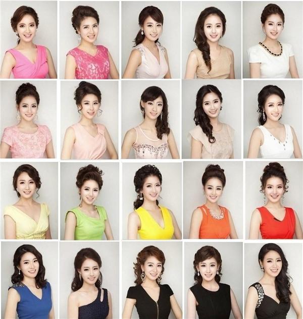 Thí sinh hoa hậu Hàn Quốc 2013 giống nhau như chị em một nhà.