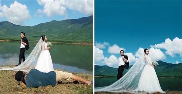 """Nằm lăn lê bò toài cũng là một tư thế tác nghiệp """"truyền thống"""" của nhiếp ảnh gia."""