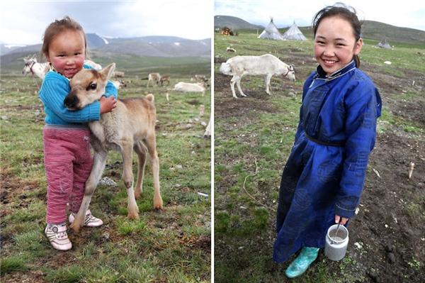 Cuộc sống của những đứa trẻ Mông Cổ và thiên nhiên sớm hòa thành một.