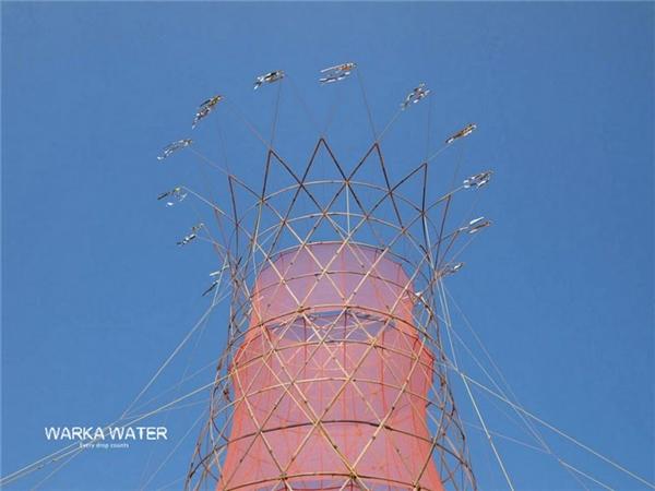 Trên đỉnh là hàng diều để đuổi chim.